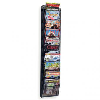10 Pocket A4 Magazine Rack - Wall Mounted