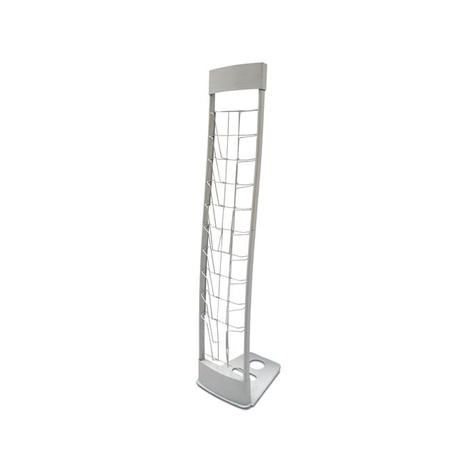 10 Pocket Metal A4 Brochure Stand