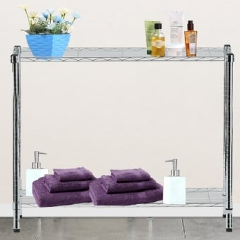 2 Tier Chrome Wire Display Table - 1200mm