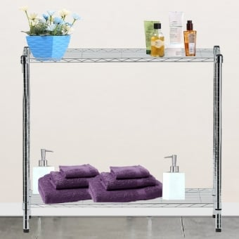 2 Tier Chrome Wire Display Table - 900mm