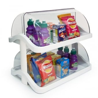 2 Tier Double Sided Acrylic Food Display