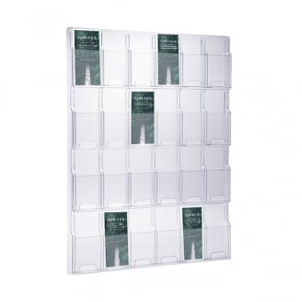 24 Pocket DL Leaflet Holder - Wall Mounted