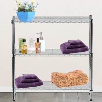 3 Tier Chrome Wire Display Table - 900mm