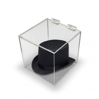 300mm Clear Acrylic Display Cube with Lid