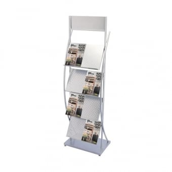 4 Tier A4 Brochure Stand with Display Header