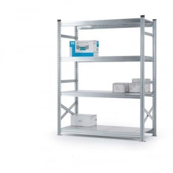 4 Tier Heavy Duty Metal Shelving Rack - 2000mm x 1500mm x 500mm