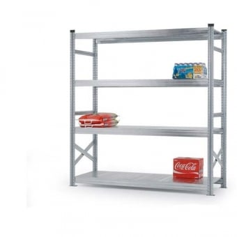 4 Tier Heavy Duty Metal Shelving Rack - 2000mm x 1800mm x 400mm