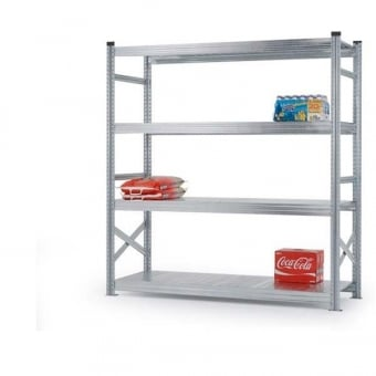 4 Tier Heavy Duty Metal Shelving Rack - 2000mm x 1800mm x 500mm