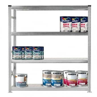 4 Tier Heavy Duty Metal Shelving Rack - 2000mm x 1800mm x 600mm