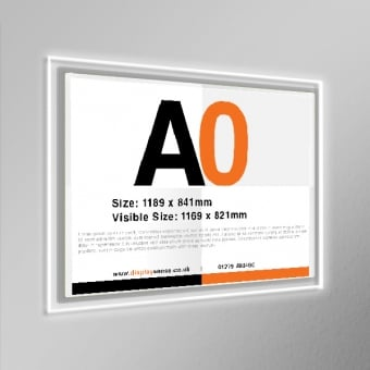 A0 LED Wall Mounted Poster Display - Landscape