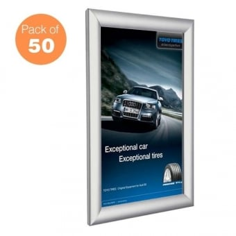 A0 Silver Poster Snap Frame Pack of 50