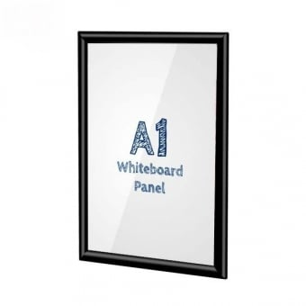 A1 Black Poster Snap Frame With PVC Whiteboard Insert