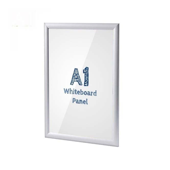 A1 Silver Poster Snap Frame With PVC Whiteboard Insert