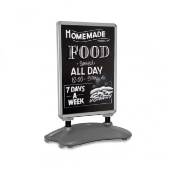 A1 Wind Resistant Poster Pavement Sign - Chalkboard Insert