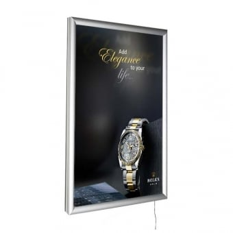 A2 LED Silver Poster Snap Frame