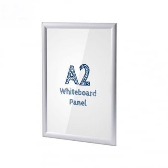 A2 Silver Poster Snap Frame With PVC Whiteboard Insert