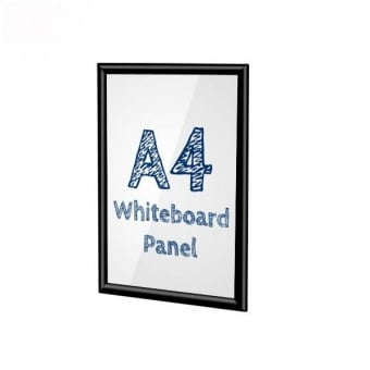 A4 Black Poster Snap Frame With PVC Whiteboard Insert