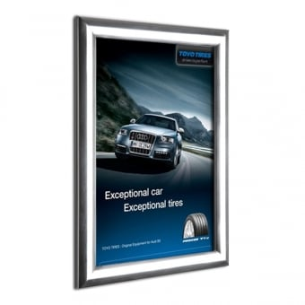 A4 Polished Silver Poster Snap Frame