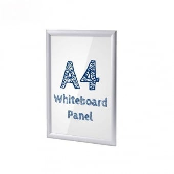 A4 Silver Poster Snap Frame With PVC Whiteboard Insert