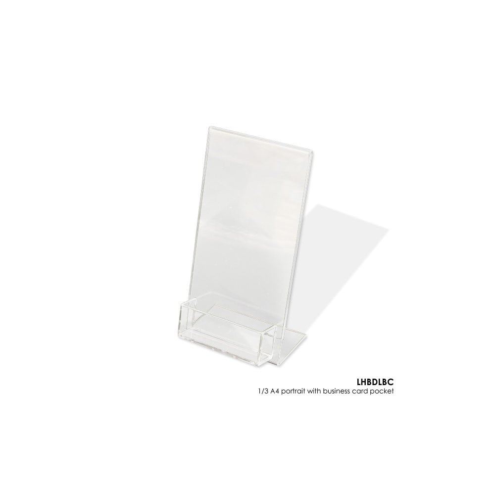 Acrylic dl literature holder with business card pocket portrait acrylic dl literature holder with business card pocket portrait reheart Image collections