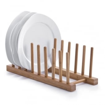 Bamboo Plate Display Rack