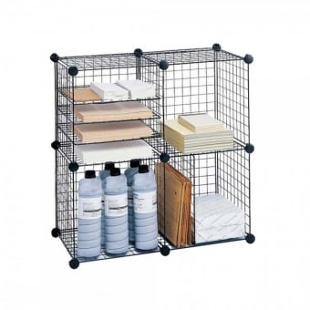 Black Wire Shelving & Merchandising Cubes
