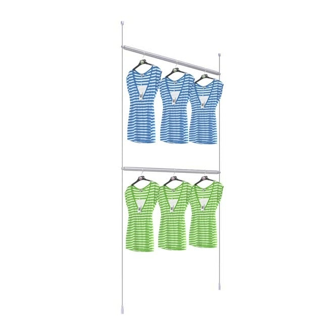 Ceiling To Floor Cable Kit Double Clothing Rail