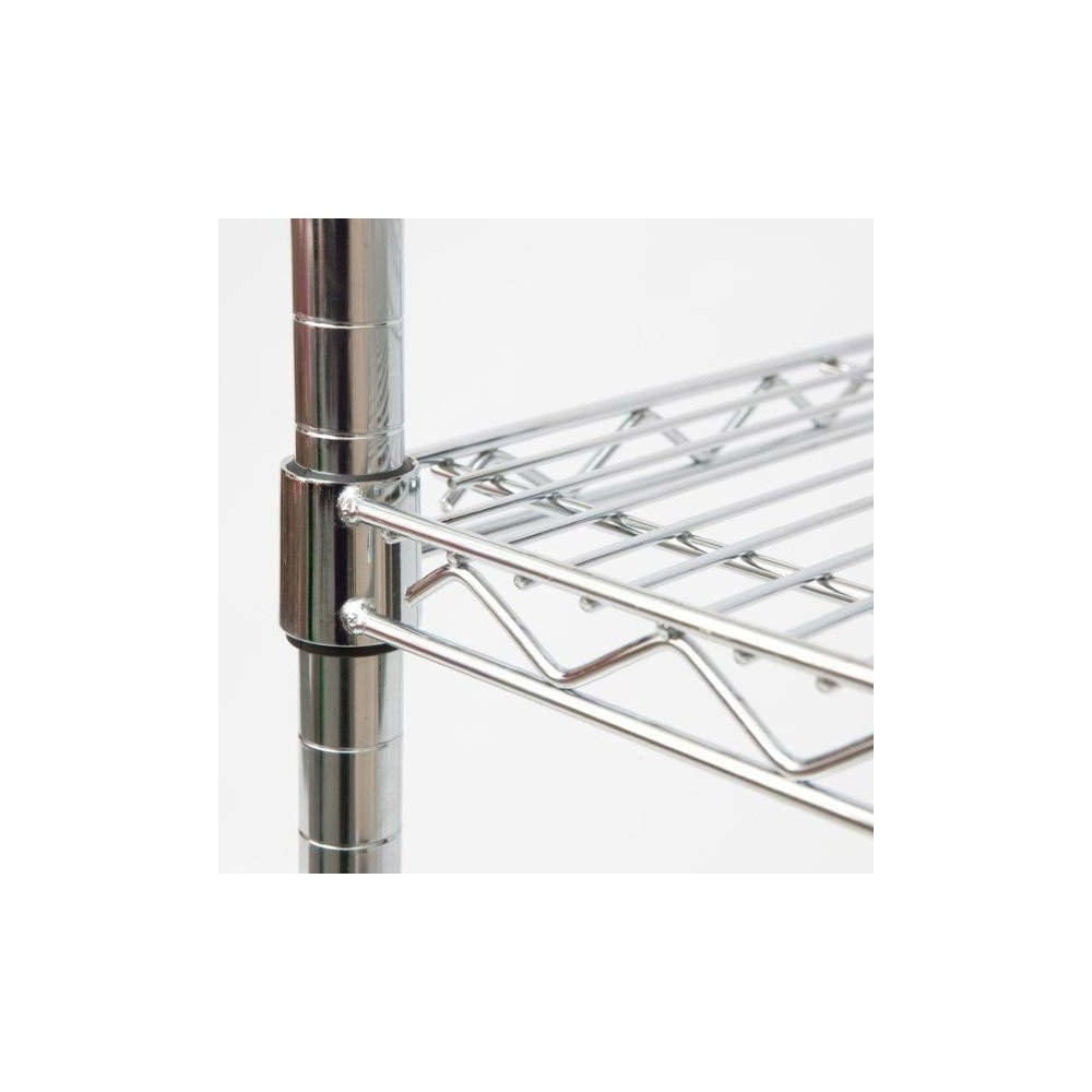 Displaysense Chrome Wire Shelving Upright Post 1800mm