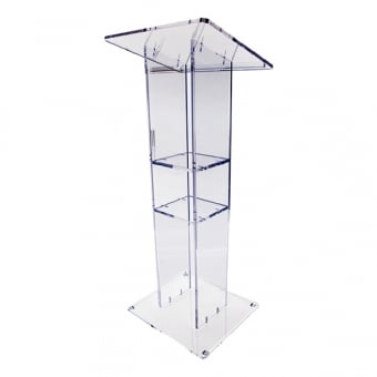 Clear Acrylic Lectern - 550mm