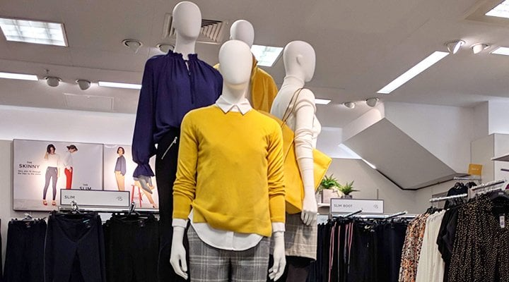 T Shirt Top Ladies Display Mannequin Wall Or Rail Hung