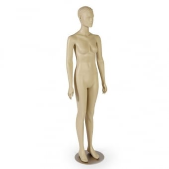 European Skin Tone Stylistic Female Mannequin - Hands at Side