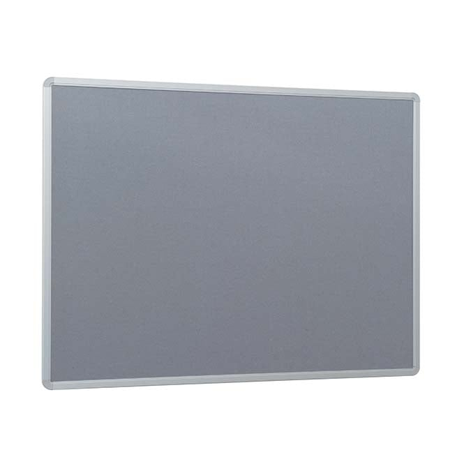 Fire Retardant Grey Felt Noticeboard - 1200 x 900mm