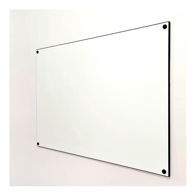 Frameless Double Sided Whiteboard with Black Edging - 2400 x 1200mm