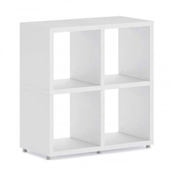 Heavy Duty White Cube Shelving Unit - 2 x 2
