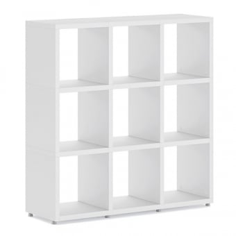 Heavy Duty White Cube Shelving Unit - 3 x 3