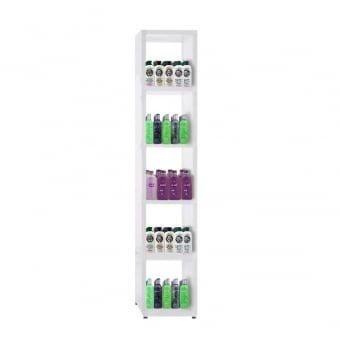 Heavy Duty White Cube Shelving Unit - 5 x 1