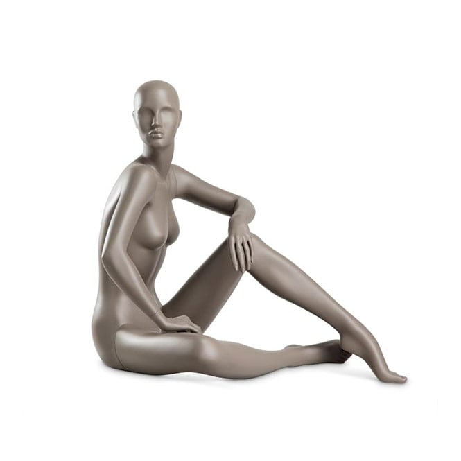 Hindsgaul Aubergine Grey Coy Female Mannequin - Sitting Down Pose