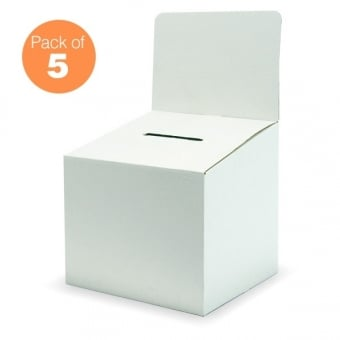 Large Cardboard Ballot Box Pack of 5