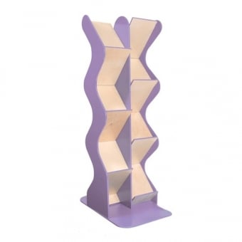 Lilac Double Sided Wooden A4 Brochure Dispenser