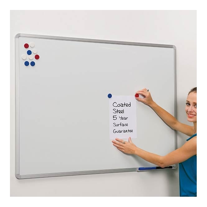 Magnetic Coated Steel Whiteboard - 900 x 600mm