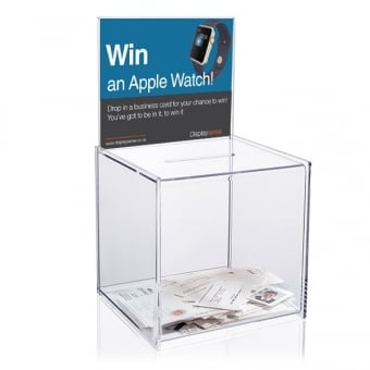 Medium Clear Acrylic Suggestion Box with Insert