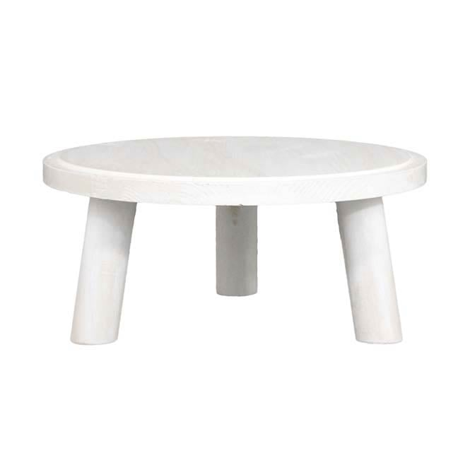 Medium Milking Stool Display - White Distressed Finish
