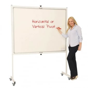 Mobile Revolving Magnetic Whiteboard - 1200 x 900mm