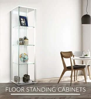 Floor Standing Glass Cabinets