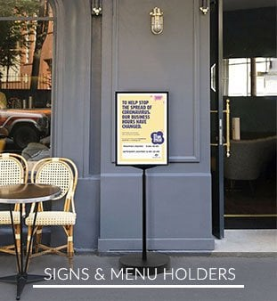Signs & Menu Holders