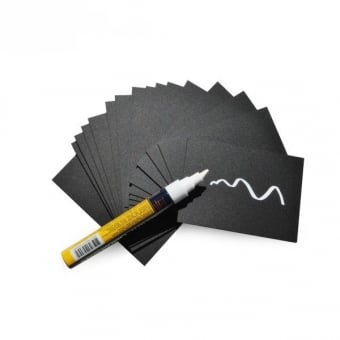 Pack of 20 Chalkboard Cards with White Chalk Marker