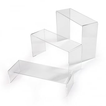 Pack of 3 Various Sized Acrylic Risers