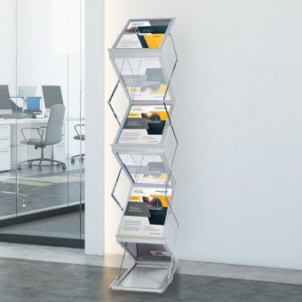 Exhibition Literature Stand : Brochure & leaflet holders literature stands displaysense