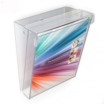 Premium Outdoor A4 Portrait Brochure Holder - Wall Mounted