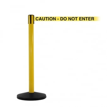 Yellow Safety Barrier Post - 3.4m Yellow 'Caution Do Not Enter' Belt
